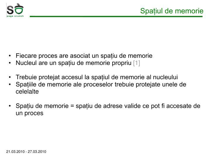 Spațiul de memorie