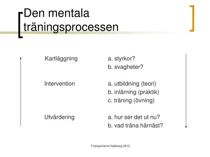 Den mentala träningsprocessen