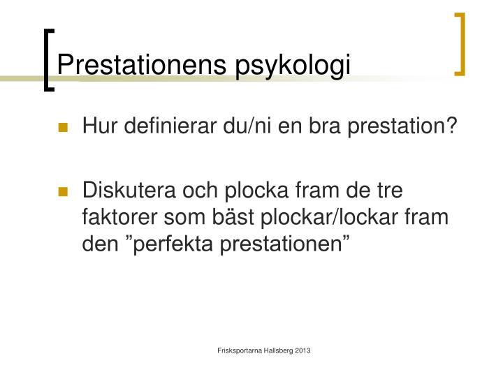 Prestationens psykologi