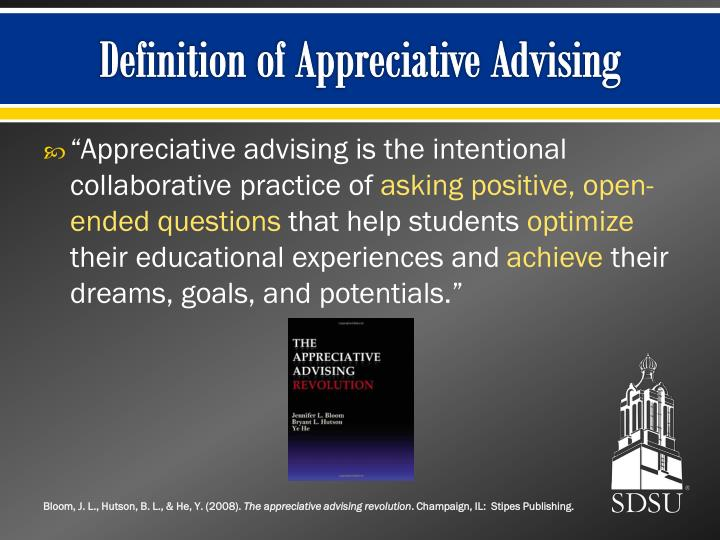 Definition of Appreciative Advising