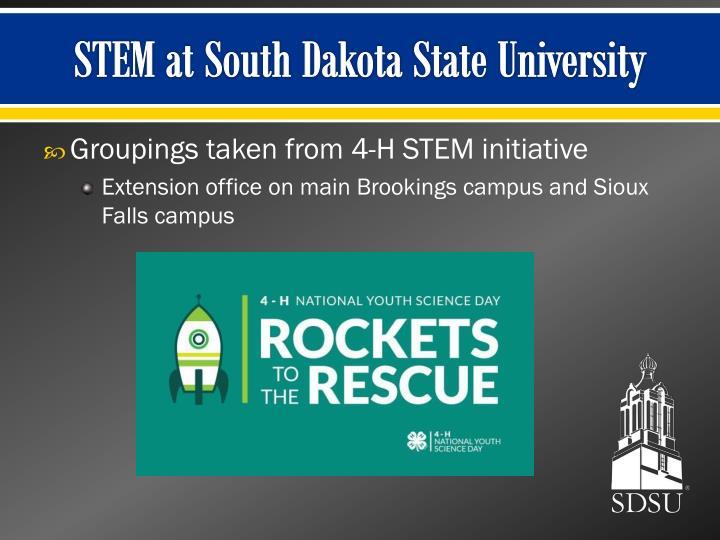 STEM at South Dakota State University