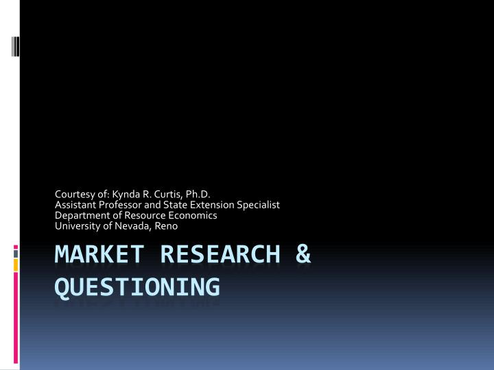 market research questioning n.