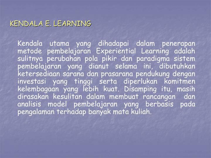 KENDALA E. LEARNING