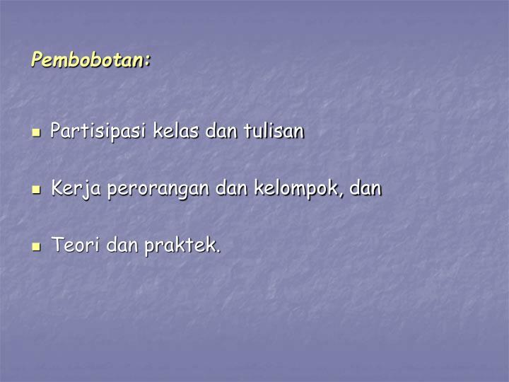 Pembobotan: