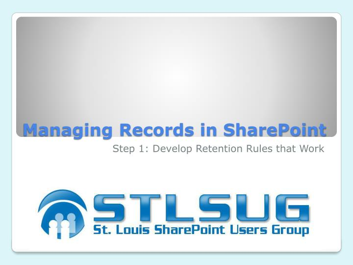 managing records in sharepoint n.