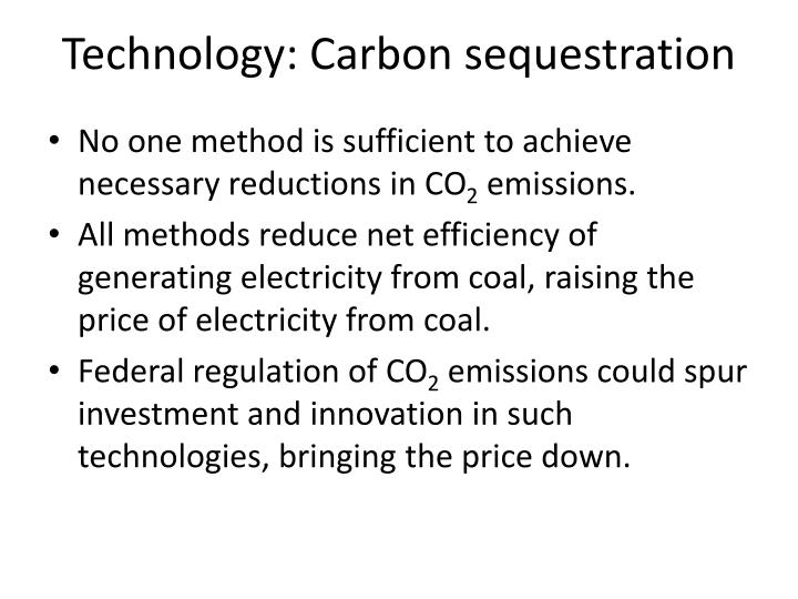 Technology: Carbon sequestration