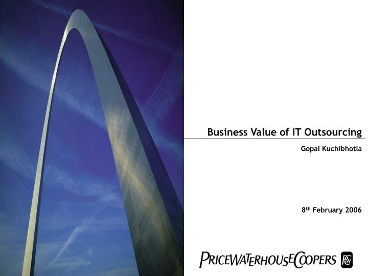 business value of it outsourcing n.