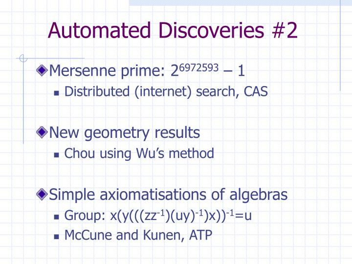 Automated Discoveries #2