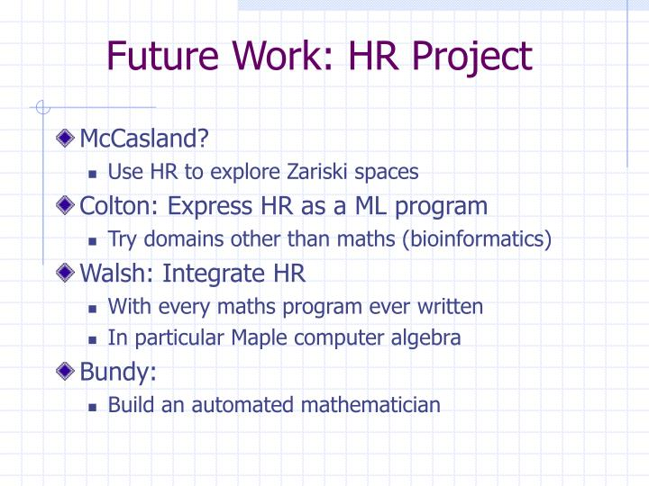 Future Work: HR Project