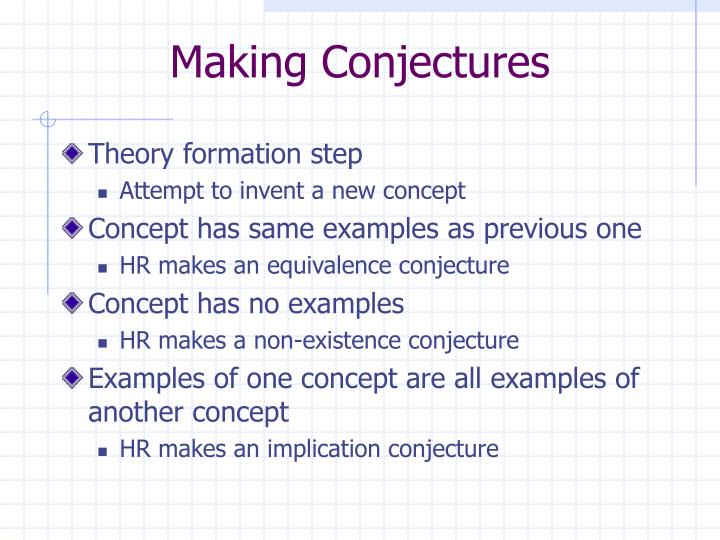 Making Conjectures