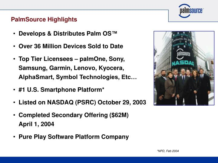 Palmsource highlights