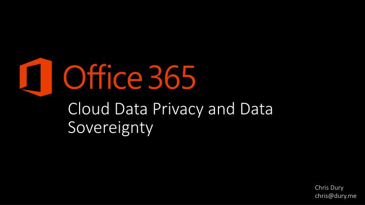 cloud data privacy and data sovereignty n.