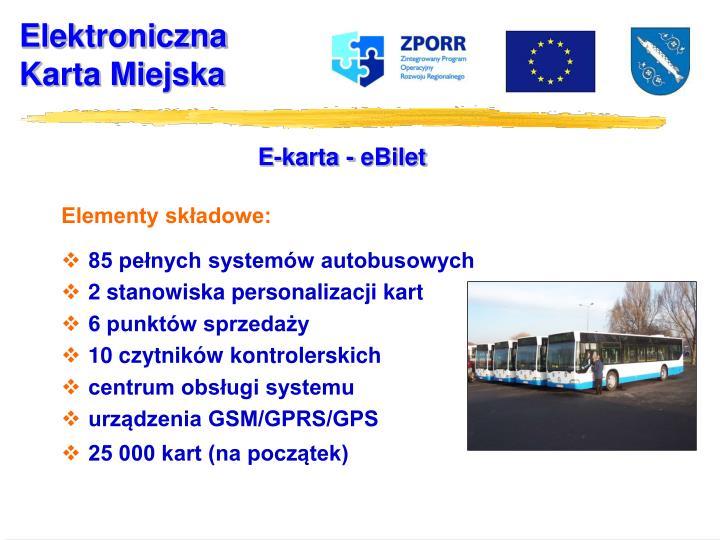 E-karta - eBilet