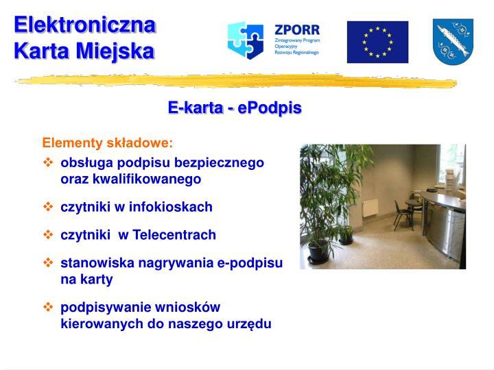E-karta - ePodpis