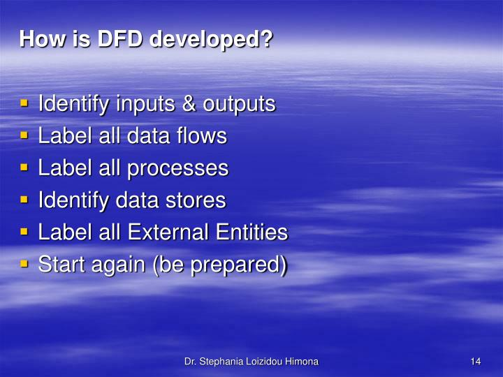 How is DFD developed?