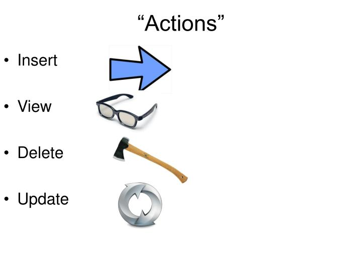 """""""Actions"""""""