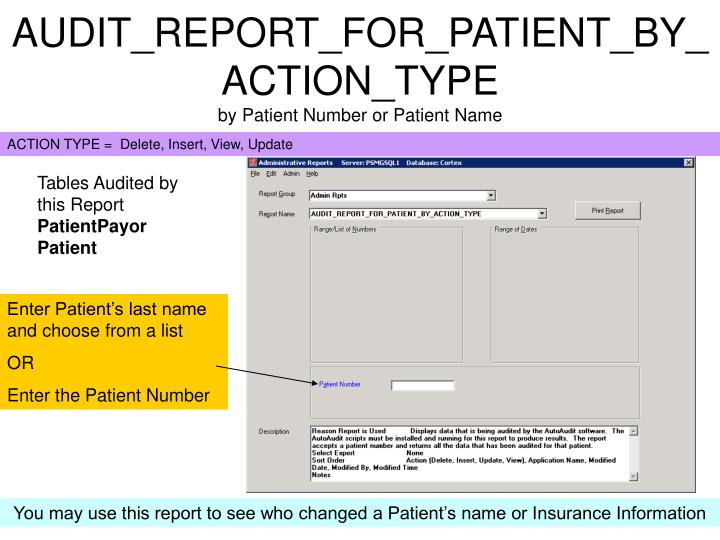 AUDIT_REPORT_FOR_PATIENT_BY_ACTION_TYPE