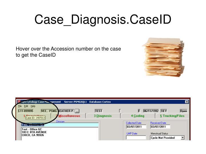 Case_Diagnosis.CaseID