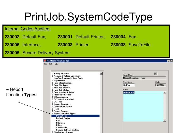 PrintJob.SystemCodeType