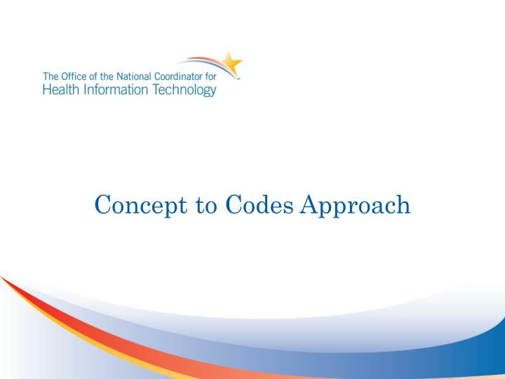 concept to codes approach n.