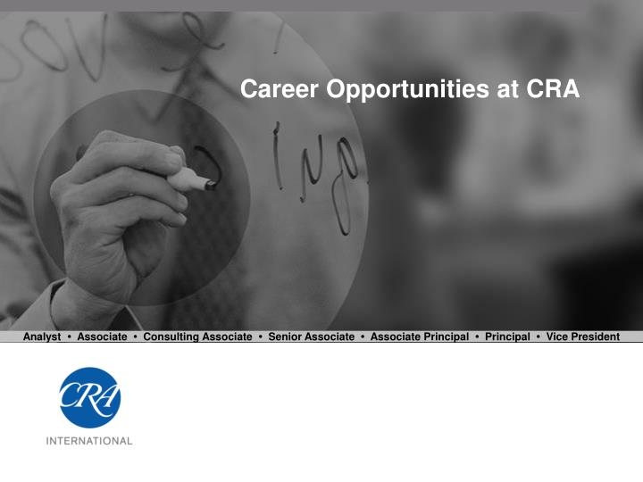 career opportunities at cra n.