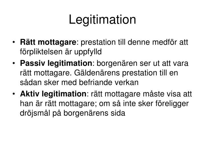 Legitimation