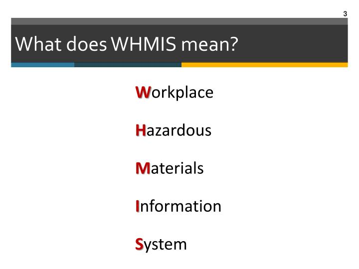 What does whmis mean