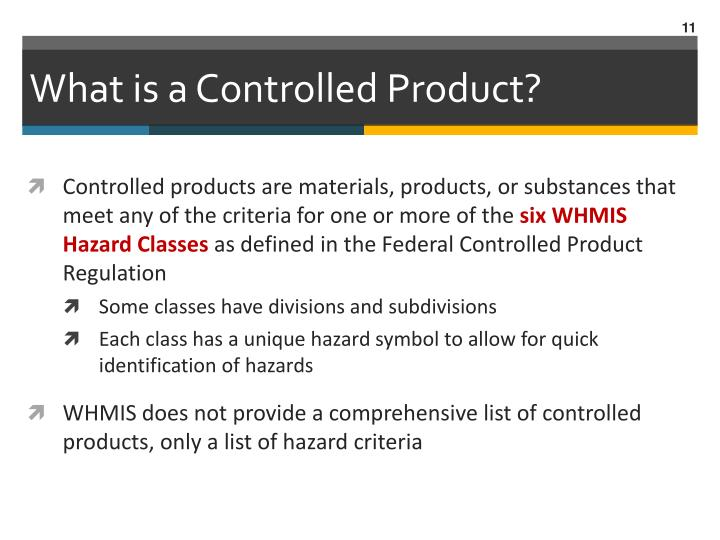 What is a Controlled Product?