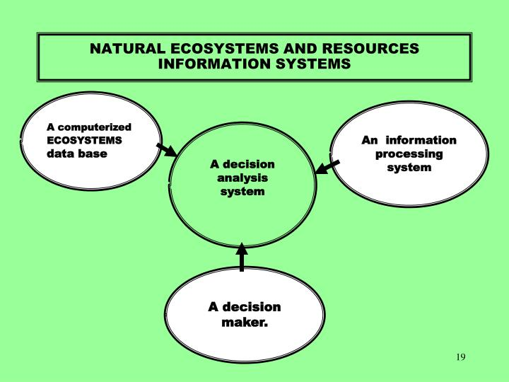 NATURAL ECOSYSTEMS AND RESOURCES INFORMATION SYSTEMS