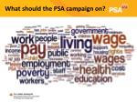 what should the psa campaign on