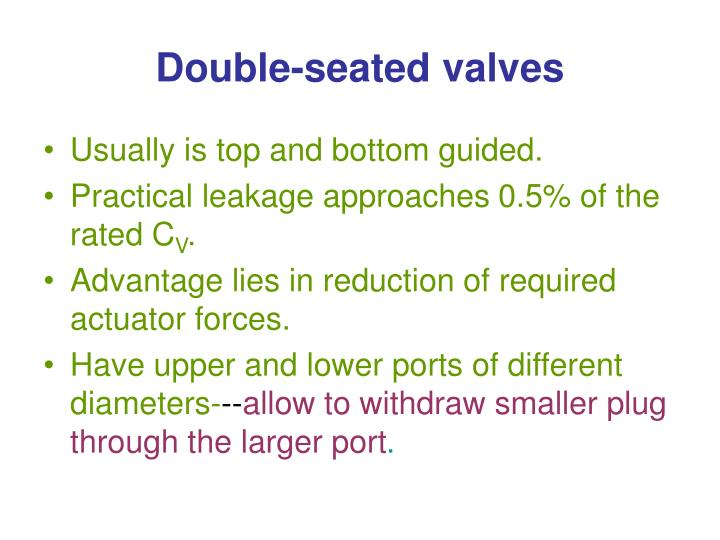 Double-seated valves