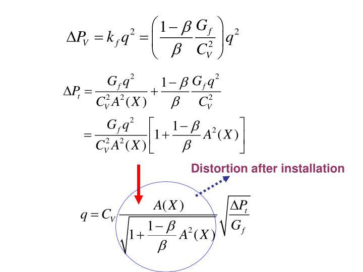 Distortion after installation