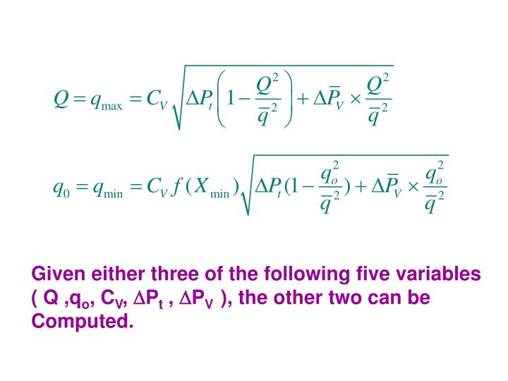 Given either three of the following five variables