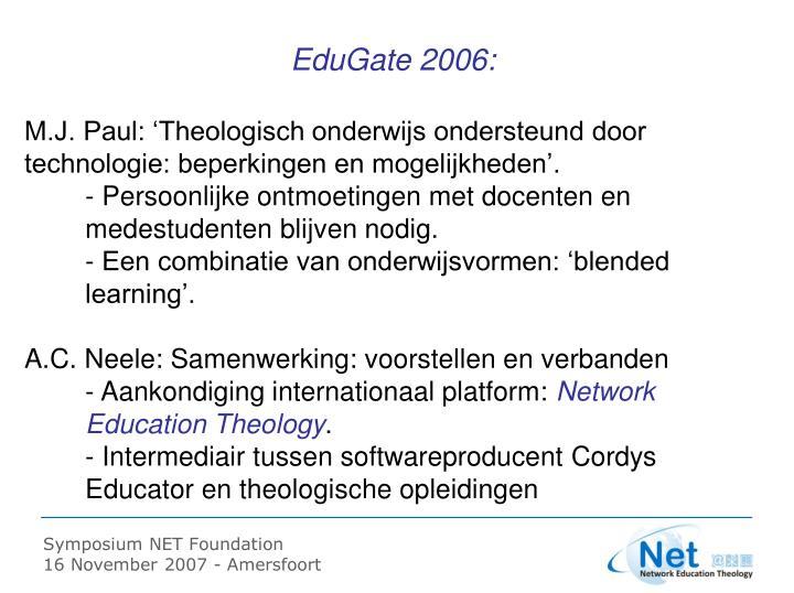 EduGate 2006: