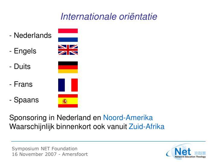 Internationale oriëntatie
