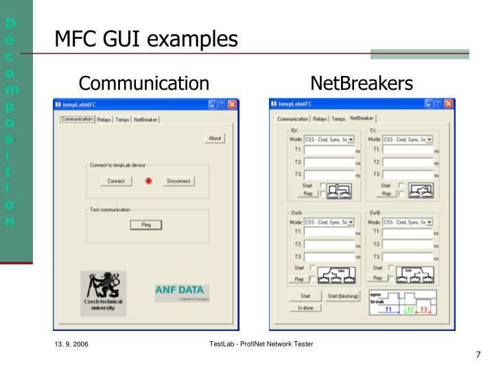 MFC GUI examples