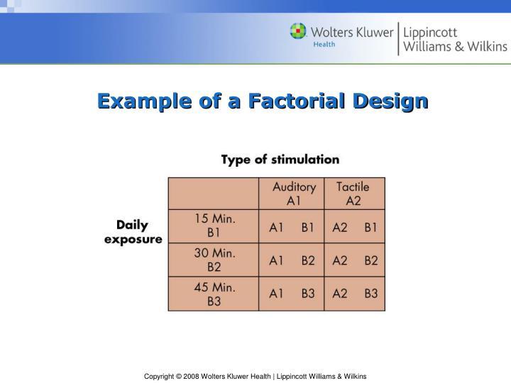 Example of a Factorial Design