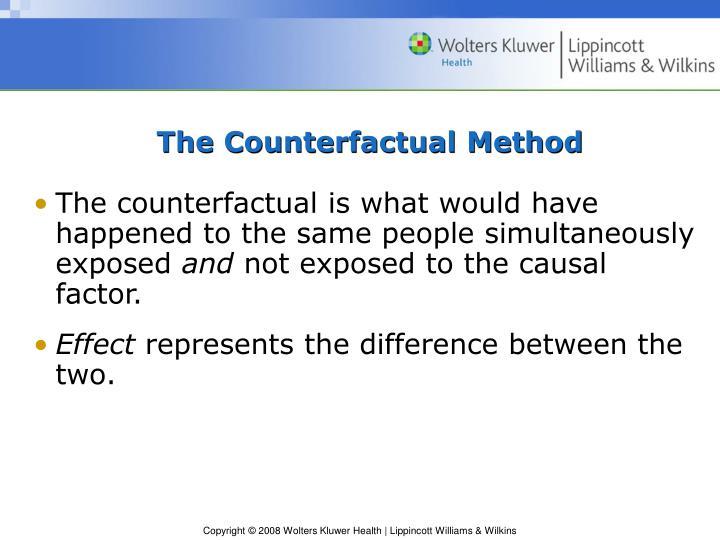 The counterfactual method