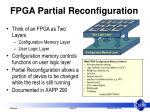 fpga partial reconfiguration