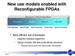 new use models enabled with reconfigurable fpgas