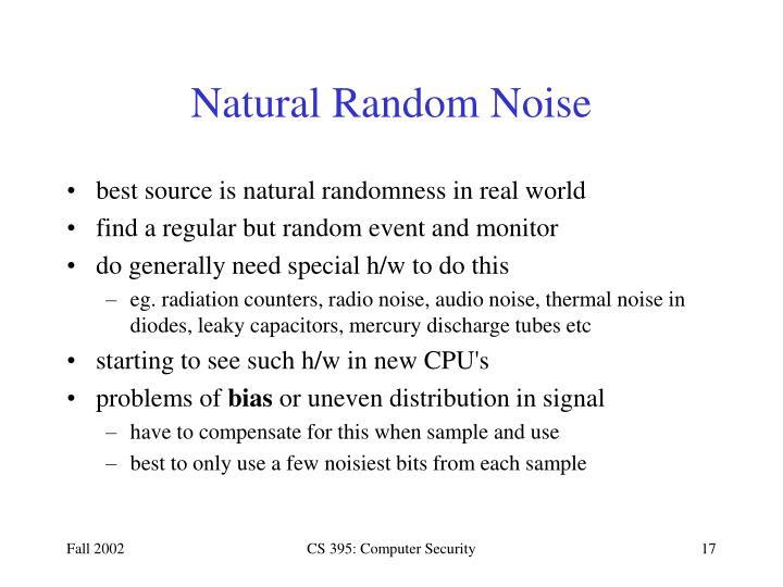 Natural Random Noise