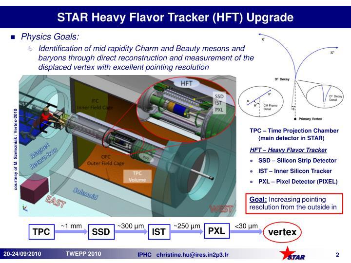 Star heavy flavor tracker hft upgrade