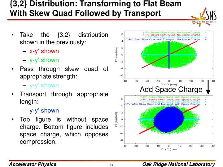 {3,2} Distribution: Transforming to Flat Beam