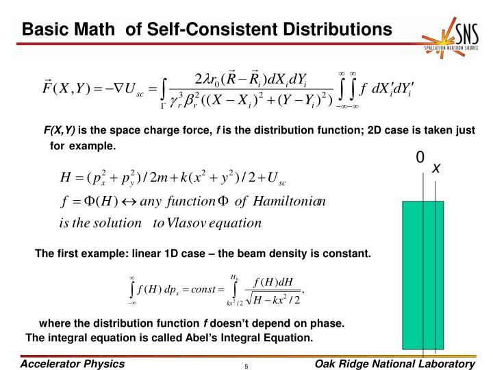 Basic Math  of Self-Consistent Distributions