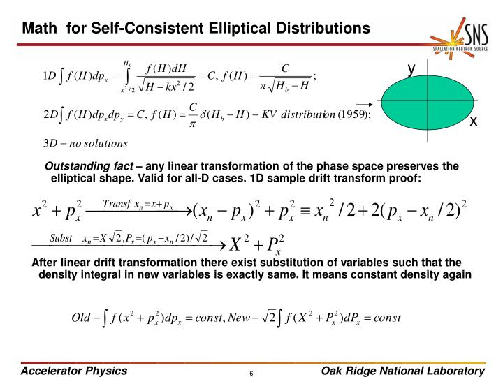 Math  for Self-Consistent Elliptical Distributions