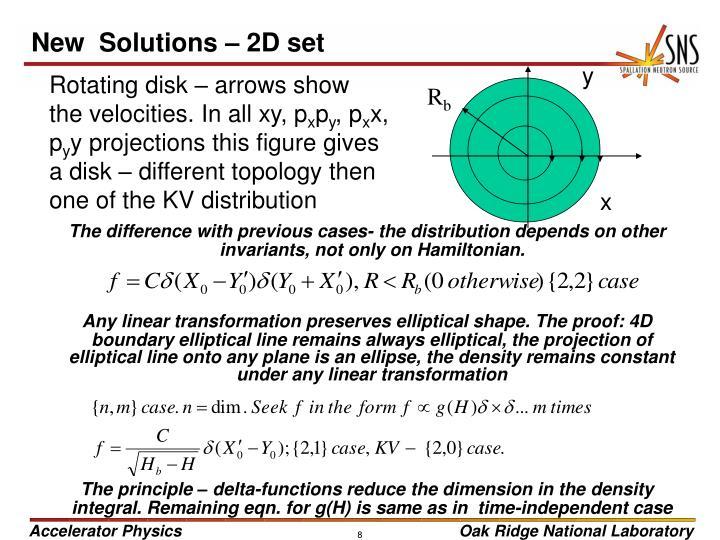 New  Solutions – 2D set