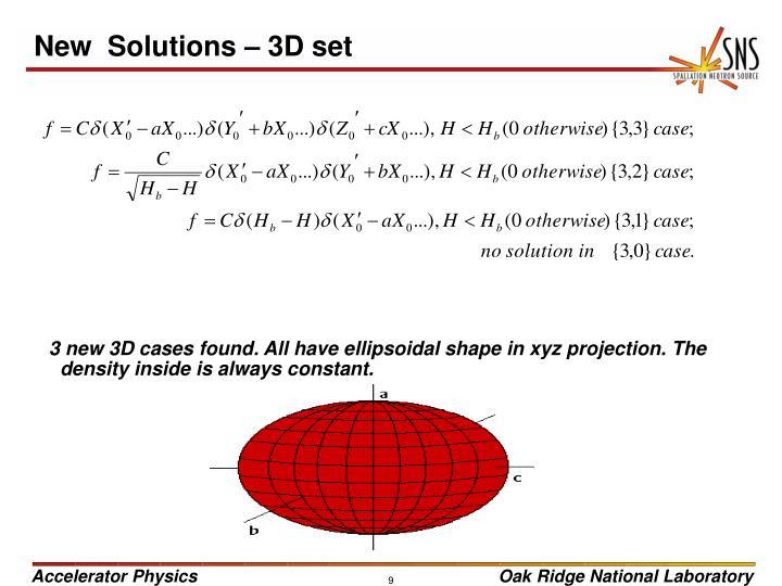 New  Solutions – 3D set