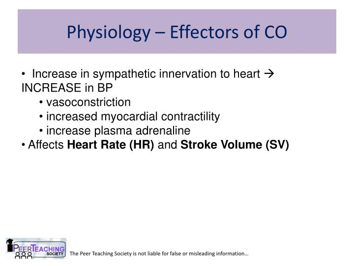 Physiology – Effectors of CO