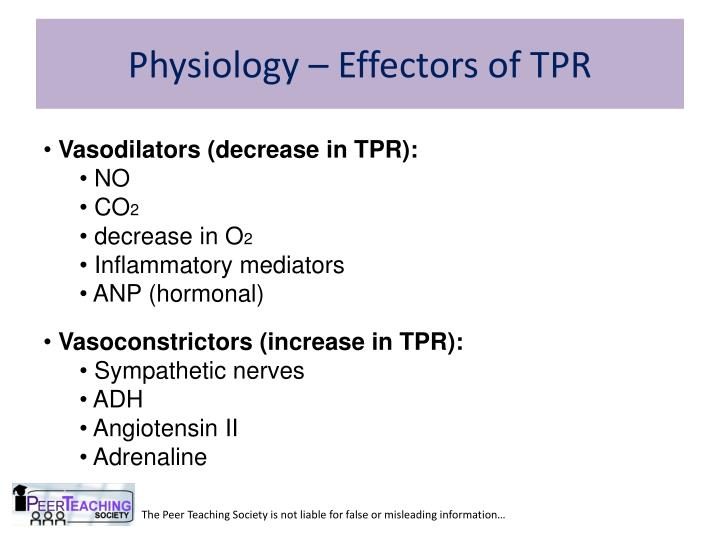 Physiology – Effectors of TPR
