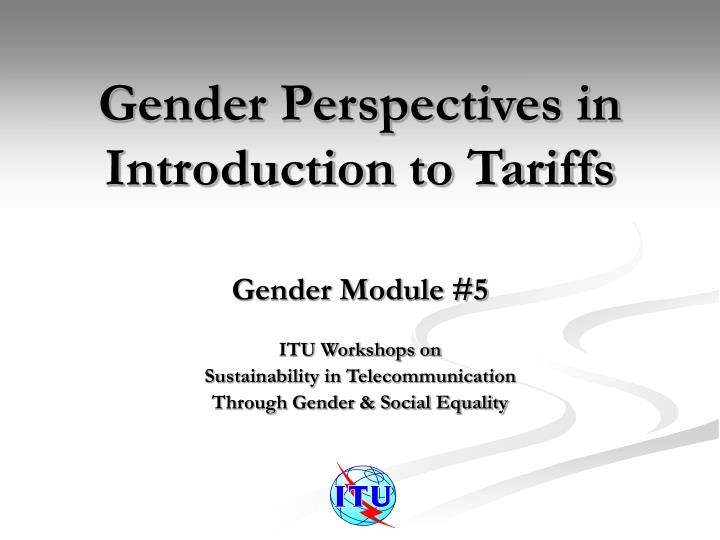 gender perspectives in introduction to tariffs n.